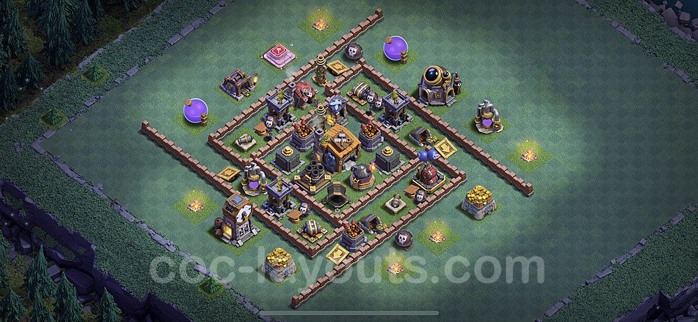Best Builder Hall Level 7 Anti 3 Stars Base with Link - Copy Design 2020 - BH7 - #37