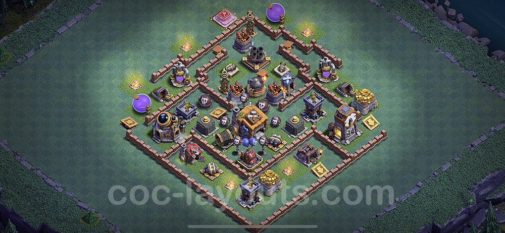 Gute Maximal Base Layout Meisterhütte Level 7 + Link - BH7 / MH7 Nachtdorf - COC Clash of Clans 2020 - #38
