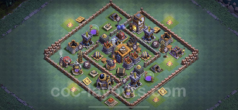 Diseño de aldea con Taller del Constructor nivel 7 Copiar - Perfecta COC Clash of Clans 2020 Base + Enlace - (#5)