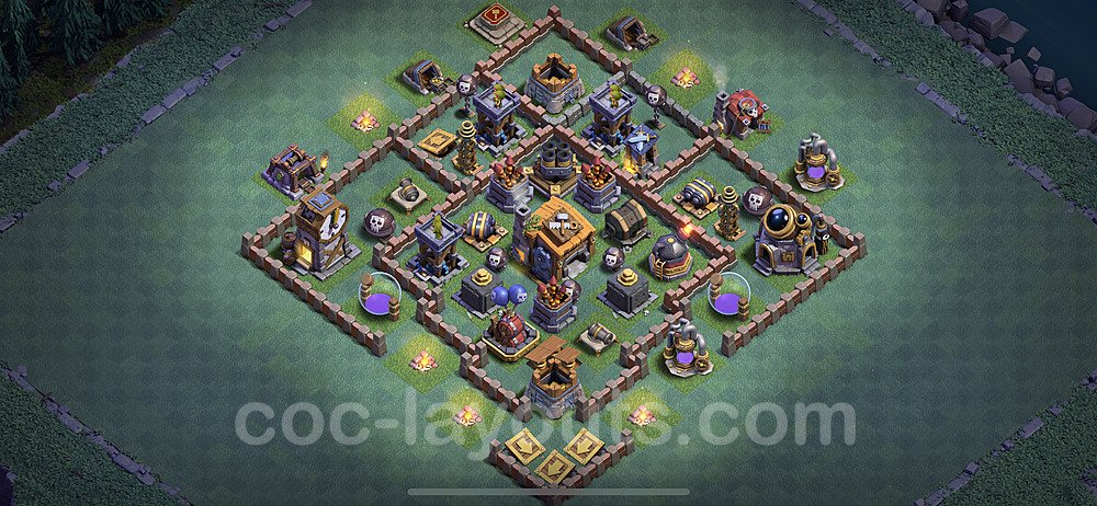 Unbeatable Builder Hall Level 7 Base with Link - Copy Design 2020 - BH7 - #7