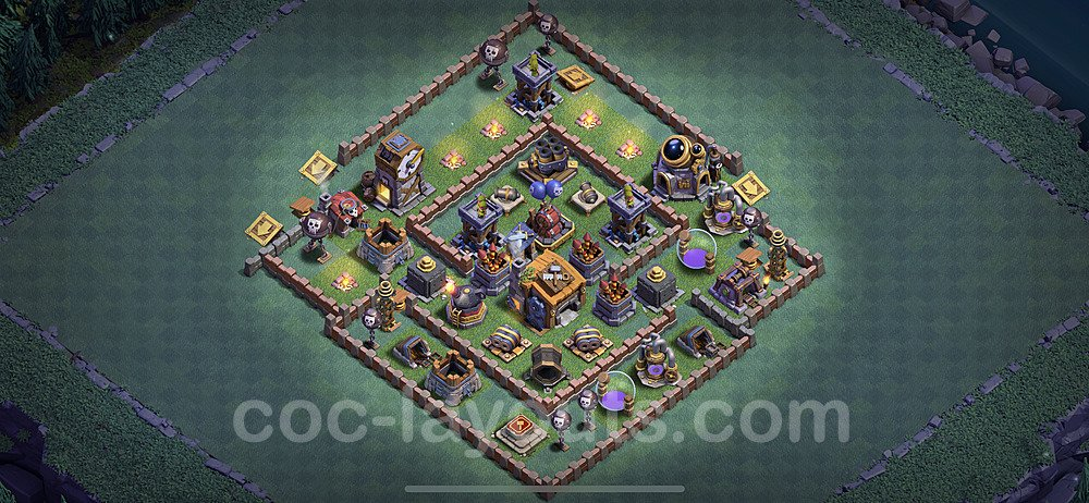 Gute Anti Alles Base Layout Meisterhütte Level 7 + Link - BH7 / MH7 Nachtdorf - COC Clash of Clans 2020 - #9