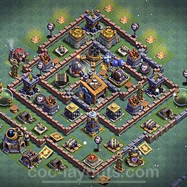 Best Builder Hall Level 8 Anti 3 Stars Base with Link - Copy Design 2021 - BH8 - #14