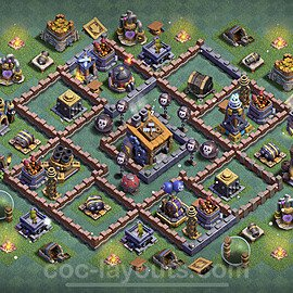 Best Builder Hall Level 8 Anti 2 Stars Base with Link - Copy Design 2021 - BH8 - #16