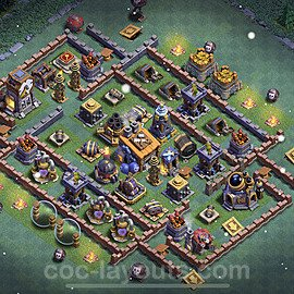 Best Builder Hall Level 8 Anti 2 Stars Base with Link - Copy Design 2021 - BH8 - #19