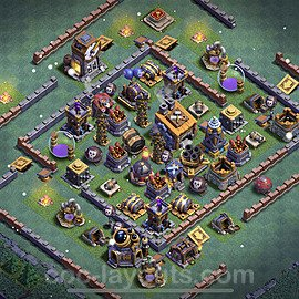 Best Builder Hall Level 8 Anti Everything Base with Link - Copy Design 2021 - BH8 - #21
