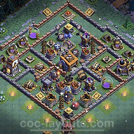 Best Builder Hall Level 8 Anti 2 Stars Base with Link - Copy Design 2021 - BH8 - #22
