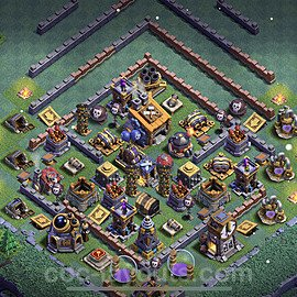 Best Builder Hall Level 8 Anti 3 Stars Base with Link - Copy Design 2021 - BH8 - #23