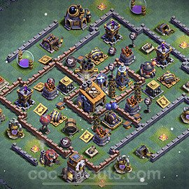 Unbeatable Builder Hall Level 8 Base with Link - Copy Design 2021 - BH8 - #24