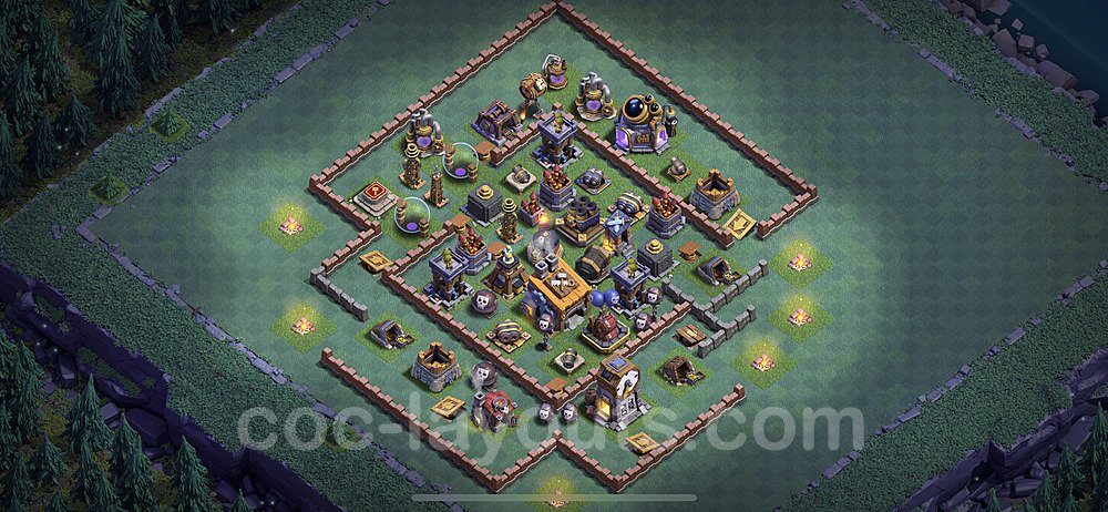 Best Builder Hall Level 8 Anti Everything Base with Link - Copy Design 2020 - BH8 - #1
