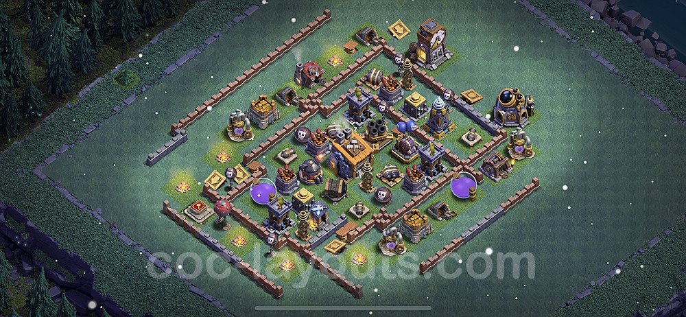 Gute Anti Alles Base Layout Meisterhütte Level 8 + Link - BH8 / MH8 Nachtdorf - COC Clash of Clans 2021 - #10