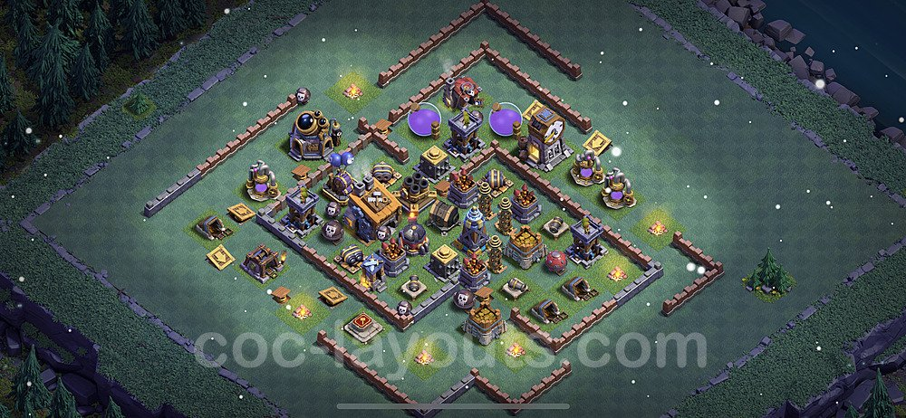 Best Builder Hall Level 8 Base with Link - Clash of Clans 2021 - BH8 Copy - (#15)