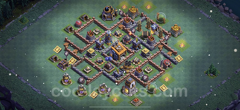 Best Builder Hall Level 8 Base with Link - Clash of Clans 2021 - BH8 Copy - (#17)