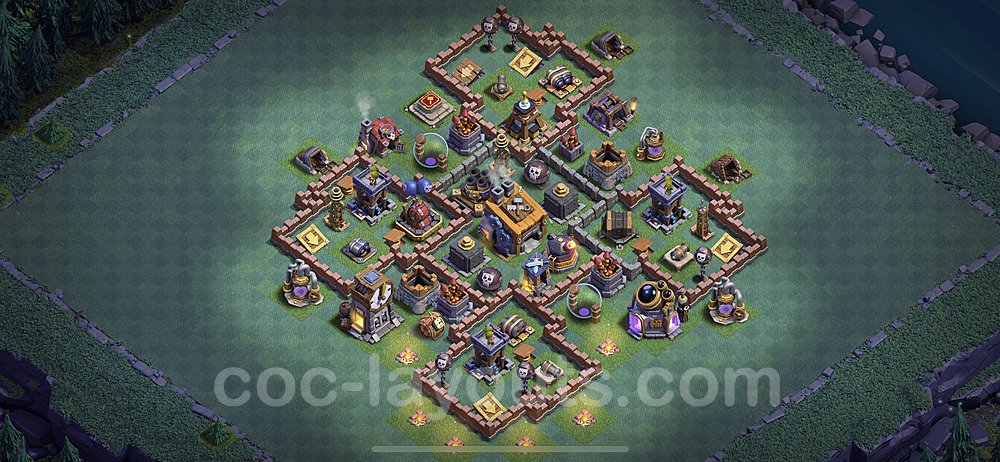 Best Builder Hall Level 8 Anti 3 Stars Base with Link - Copy Design 2020 - BH8 - #2