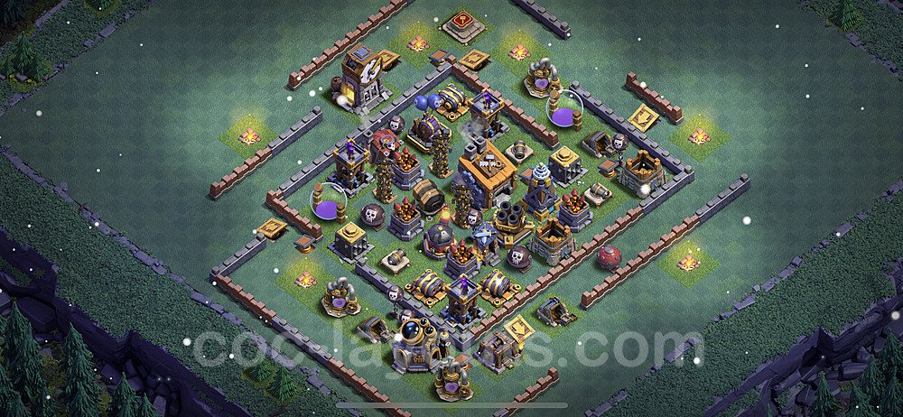 Gute Anti Alles Base Layout Meisterhütte Level 8 + Link - BH8 / MH8 Nachtdorf - COC Clash of Clans 2021 - #21