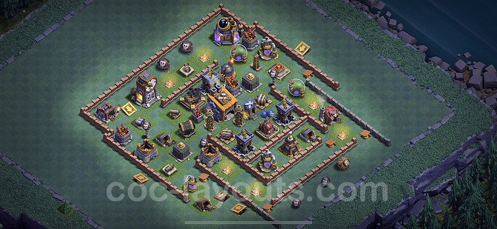 Best Builder Hall Level 8 Base with Link - Clash of Clans 2020 - BH8 Copy - (#3)
