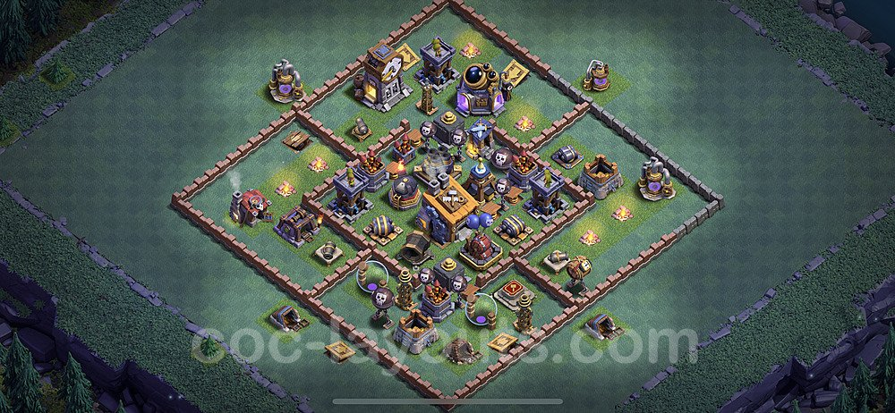 Best Builder Hall Level 8 Anti 2 Stars Base with Link - Copy Design 2020 - BH8 - #5