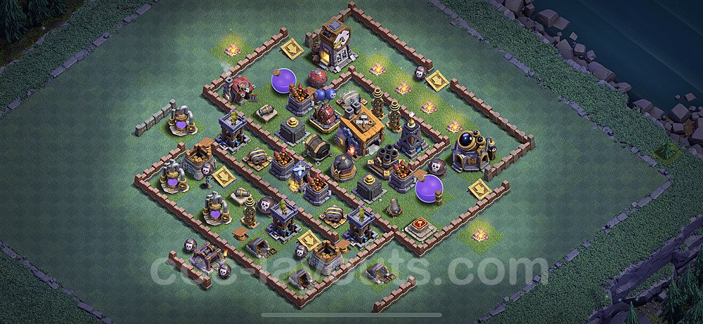 Gute Anti Alles Base Layout Meisterhütte Level 8 + Link - BH8 / MH8 Nachtdorf - COC Clash of Clans 2020 - #8