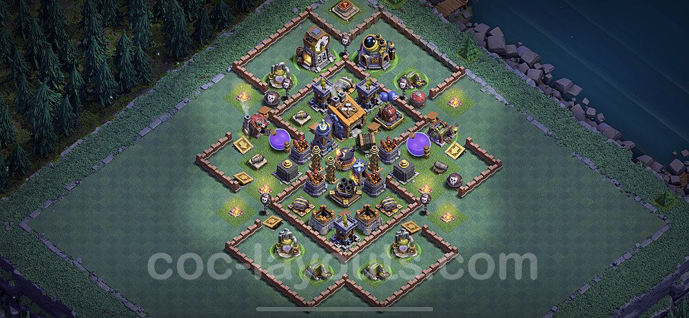 Diseño de aldea con Taller del Constructor nivel 8 Copiar - Perfecta COC Clash of Clans 2021 Base + Enlace - (#9)