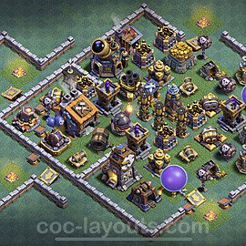 Diseño de aldea con Taller del Constructor nivel 9 Copiar - Perfecta COC Clash of Clans 2021 Base + Enlace - (#32)