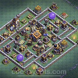 Best Builder Hall Level 9 Anti Everything Base with Link - Copy Design 2021 - BH9 - #33