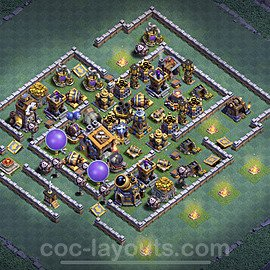 Best Builder Hall Level 9 Max Levels Base with Link - Copy Design 2021 - BH9 - #35