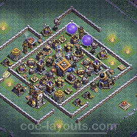 Diseño de aldea con Taller del Constructor nivel 9 Copiar - Perfecta COC Clash of Clans 2021 Base + Enlace - (#36)