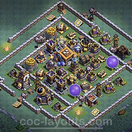Best Builder Hall Level 9 Max Levels Base with Link - Copy Design 2021 - BH9 - #38