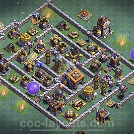 Best Builder Hall Level 9 Max Levels Base with Link - Copy Design 2021 - BH9 - #40