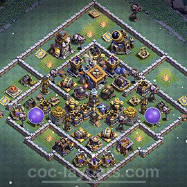 Impenetrable aldea 2021 para Taller del Constructor nivel 9 Copiar - COC Base + Enlace - #41
