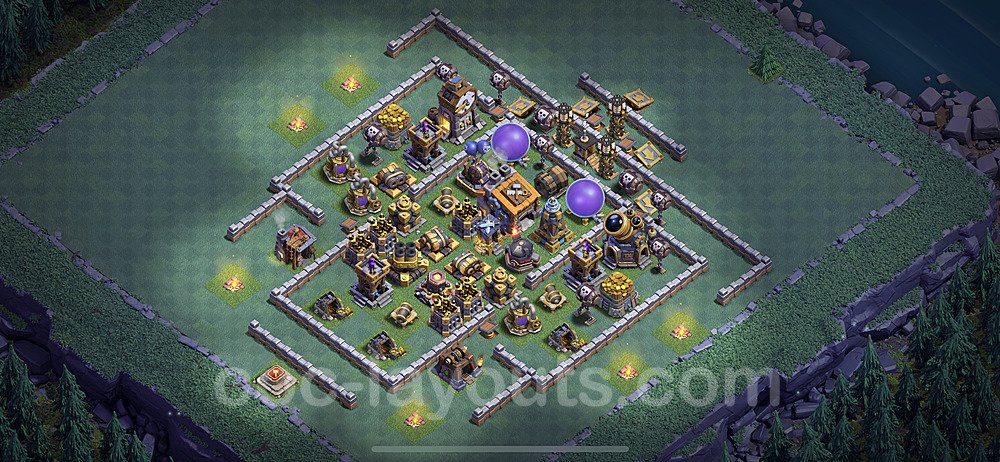 Best Builder Hall Level 9 Max Levels Base with Link - Copy Design 2020 - BH9 - #3