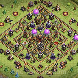 Full Upgrade TH10 Base Plan with Link, Copy Town Hall 10 Max Levels Design 2020, #150