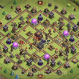 Top TH10 Unbeatable Anti Loot Base Plan with Link, Copy Town Hall 10 Base Design 2020, #152