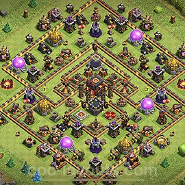 Anti Everything TH10 Base Plan with Link, Copy Town Hall 10 Design 2020, #153