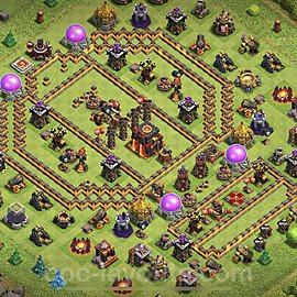 TH10 Trophy Base Plan with Link, Copy Town Hall 10 Base Design 2020, #154