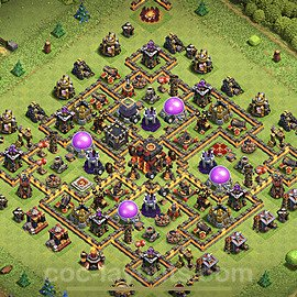 TH10 Anti 2 Stars Base Plan with Link, Copy Town Hall 10 Base Design 2020, #155