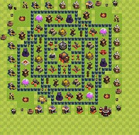 Base plan Town Hall level 10 for trophies (defence) (variant 42)