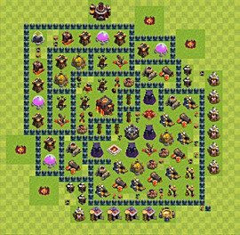 Base plan Town Hall level 10 for trophies (defence) (variant 45)
