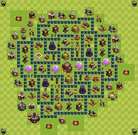Base plan Town Hall level 10 for trophies (defence) (variant 46)