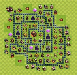 Base plan Town Hall level 10 for trophies (defence) (variant 47)