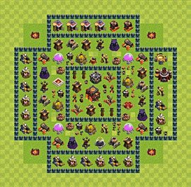Base plan Town Hall level 10 for trophies (defence) (variant 49)