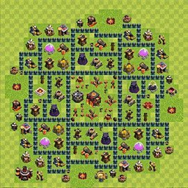 Base plan (layout), Town Hall Level 10 for trophies (defence) (variant 59)