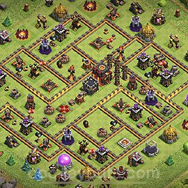 Anti Dragon TH10 Base Plan with Link, Copy Town Hall 10 Anti Air Design 2020, #79