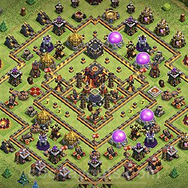 TH10 Anti 2 Stars Base Plan with Link, Copy Town Hall 10 Base Design 2020, #80