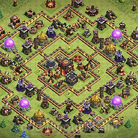 TH10 Anti 3 Stars Base Plan with Link, Copy Town Hall 10 Base Design 2020, #81