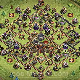 TH10 Trophy Base Plan with Link, Copy Town Hall 10 Base Design 2020, #82