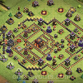 TH10 Trophy Base Plan with Link, Copy Town Hall 10 Base Design 2020, #83