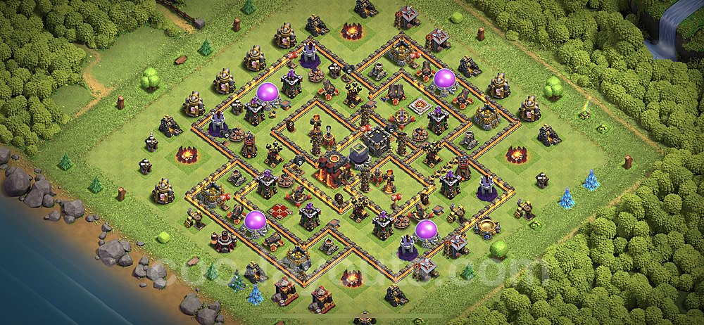 Anti Everything TH10 Base Plan with Link, Copy Town Hall 10 Design 2020, #149