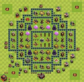 Base plan TH10 (design / layout) for Farming, #1