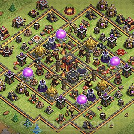 Base plan TH10 Max Levels with Link for Farming 2020, #130