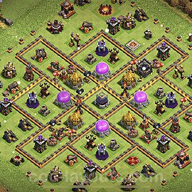 Base plan TH10 Max Levels with Link for Farming 2021, #146